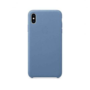 كفر جلدي أصلي لآيفون XS Max  من Apple - أزرق فاتح