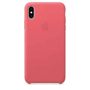 كفر جلدي أصلي لآيفون XS Max  من Apple - وردي داكن