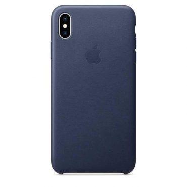 كفر جلدي أصلي لآيفون XS Max  من Apple - أزرق داكن