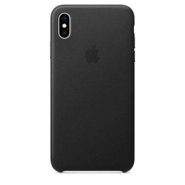 كفر جلدي أصلي لآيفون XS Max  من Apple - أسود