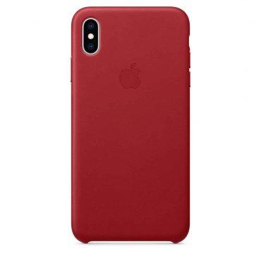 كفر جلدي أصلي لآيفون XS Max  من Apple - أحمر