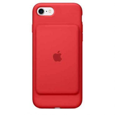 كفر بطارية أصلي من Apple لآيفون 7 - أحمر