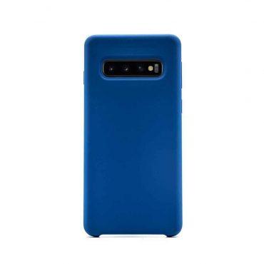 كفر أصلي من السيليكون لسامسونج جالكسي S10 Plus - أزرق