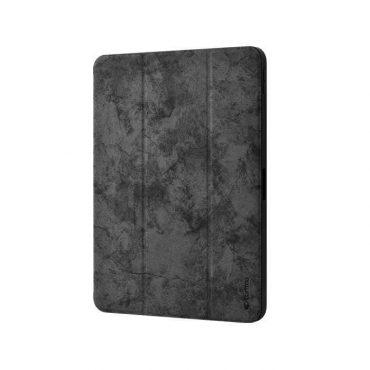 كفر من الجلد الفاخر مع حامل قلم آبل لجهاز iPad Pro 12.9 إنش (2018) - أسود