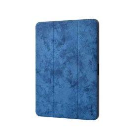 كفر من الجلد الفاخر مع حامل قلم آبل لجهاز iPad Pro 11 إنش (2018) - أزرق