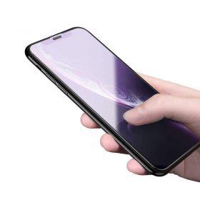 شاشة حماية مقاومة للأشعة الزرقاء من الزجاج الصلب لآيفون 6.5 - أسود