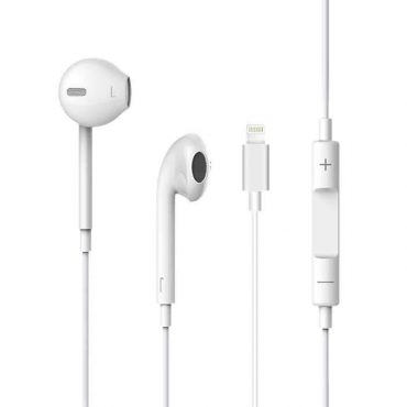 سماعات ذكية Earpods لاسلكية مدعومة بالميكروفون - أبيض