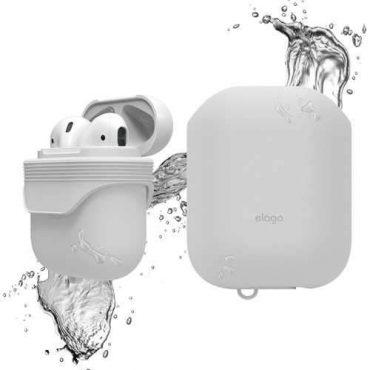 غطاء ضد الماء لسماعات آبل - أبيض