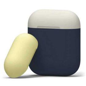 غطاء مطاطي مميز لسماعات آبل كحلي & أصفر