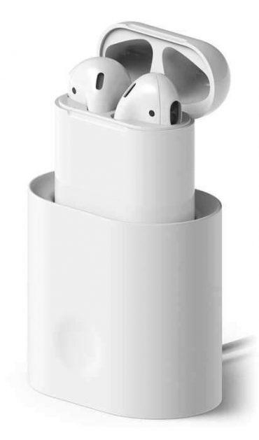 شاحن لغطاء سماعات Airpods من Elago - أبيض