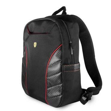 حقيبة الظهر المُبطنة للاب توب 15 بوصة من فيراري سكيدريا - متعددة الأغراض - لون أسود