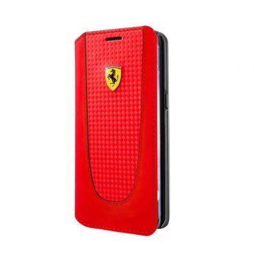 كفر فيراري دفتر لهاتف جالكسي S8 Plus- احمر