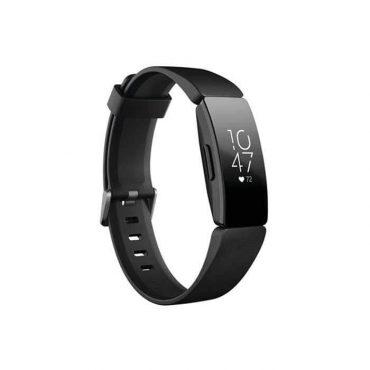 سوار المعصم الرياضي HR مع متتبع ضربات القلب من Fitbit - أسود/ أسود