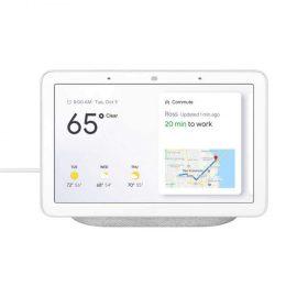 جهاز  Google Home Hubمع مساعد جوجل - أبيض