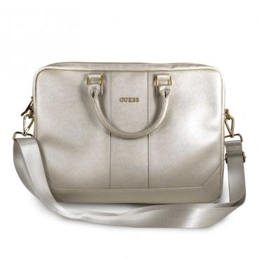 حقيبة اللاب توب 15 بوصة النسائية - متعددة الأغراض - لون بيج لامع