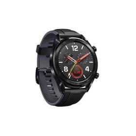 ساعة ذكية GT مع حزام سيليكون جلدي أسود - Huawei