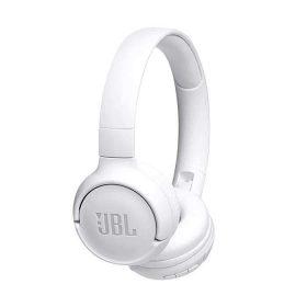 سماعات رأس لاسلكية مع ميكروفون t500 من jbl - أبيض