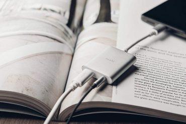 محول صوت رقمي USB-C مع شحن - MOSHI