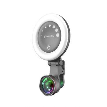 عدسات بورودو الخاصة بكاميرات الهواتف الثلاثة في واحد - 0.6X وايد و 15X ماكرو -  رمادي