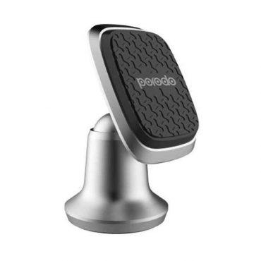 Porodo Magnetic Silicone Aluminum Alloy Dash Mount - Silver