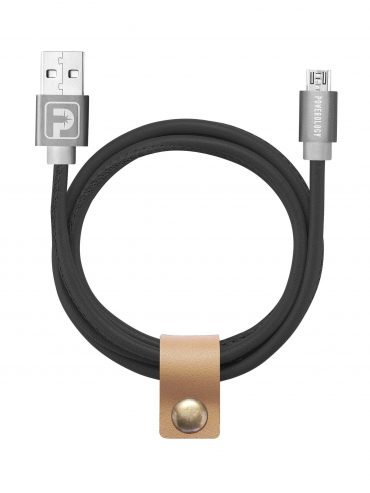 كابل USB الجلدي 1مم - أسود