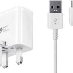 شاحن السفر من سامسونج 15 واط نوع C إلى USB- أبيض