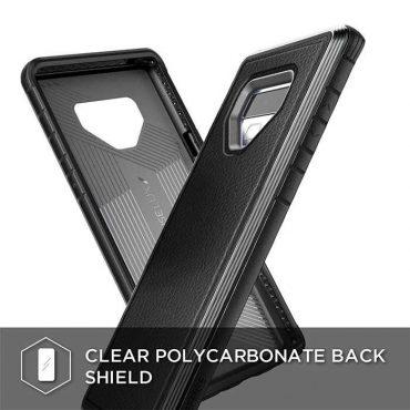كفر ظهر ضد الصدمات Lux لسامسونج جالكسي Note 9 من X-Doria - أسود جلدي