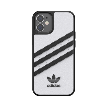 كفر Adidas - SAMBA Apple iPhone 12 Mini Moulded Case - أبيض  أسود
