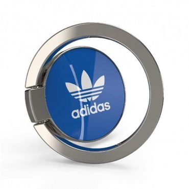 خاتم للموبايل Adidas - Originals Universal Phone Ring Grip Stand for Smartphones - أزرق  أبيض