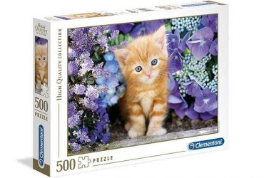 لعبة تطبيقات 500 قطعة CLEMENTONI - Cat In Flowers