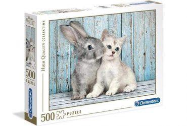 لعبة تطبيقات 500 قطعة CLEMENTONI - Cat & Bunny