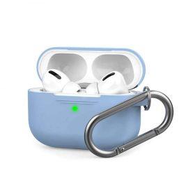 غطاء سيليكون مع سلسلة لسماعات Airpods Pro  - أزرق سماوي