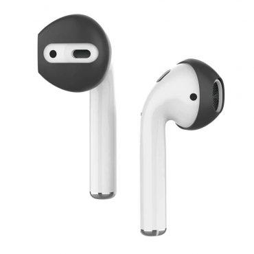 كفر خطافات أذن مميز لسماعات Airpods(3 أزواج) - أسود