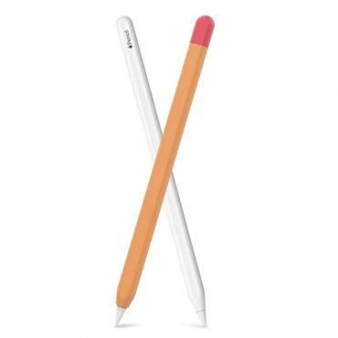 كفر مميز لقلم آبل (الجيل الثاني) - برتقالي/ أحمر