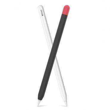 كفر مميز لقلم آبل (الجيل الثاني) - أسود/ أحمر