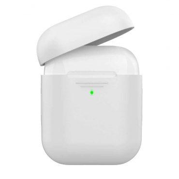 غطاء سيليكون لسماعات  Airpods - أبيض