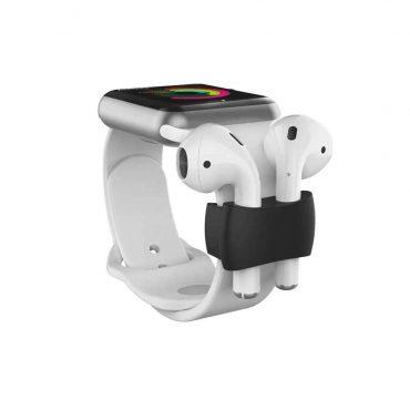 حامل حزام ساعة أصلي لسماعات  Airpods - أسود