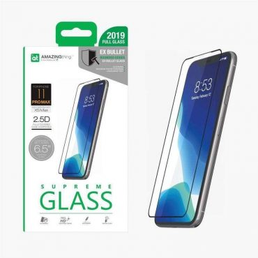 "شاشة حماية AMAZINGTHING - AT IPHONE XI 6.5"" 0.3M 2.5D SILK F.COV GLASS - أسود"