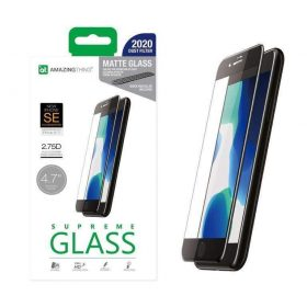 شاشة حماية AMAZINGTHING - AT IPHONE SE 2.75D F.COV. ANTI-BACTERIAL DUST FILTER GLASS
