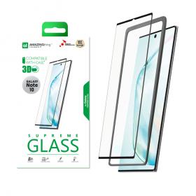 شاشة حماية AMAZINGTHING - AT SAMSUNG LOCA NOTE 10 FULL GLUE 3D GLASS DUO SET CRYSTAL