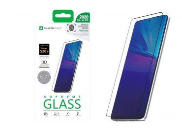 "شاشة حماية AMAZINGTHING - AT SAMSUNG S20+ 6.7"" FINGERPRINT CUTOUT SIDE GLUE 3D F.COV GLASS"