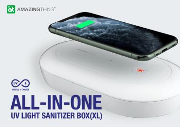 جهاز تعقيم وشحن لاسلكي AMAZINGTHING - AT UV STERILIZATION XL BOX ELITE VERSION MATTE - أبيض