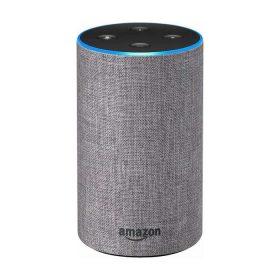 مكبر صوت ذكي Echo من  Amazon  (الجيل الثاني) -  قماش رمادي