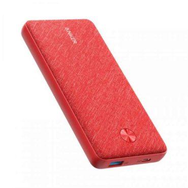 باور بانك 20000mAh ANKER POWERCORE ESSENTIAL PD - أحمر قماشي