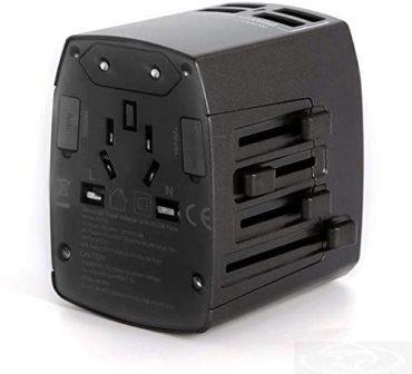 محول مع 4 مداخل USB ANKER UNIVERSAL TRAVEL ADAPTER - أسود
