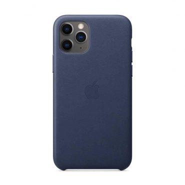 كفر جلدي أصلي لآيفون 11 Pro Max من Apple - أزرق داكن