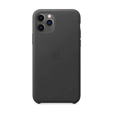 كفر جلدي أصلي لآيفون 11 Pro Max من Apple - أسود