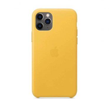 كفر جلدي أصلي لآيفون 11 Pro من Apple - ليموني