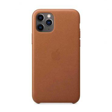 كفر جلدي أصلي لآيفون 11 Pro Max من Apple - بني داكن