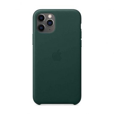 كفر جلدي أصلي لآيفون 11 Pro Max من Apple - أخضر داكن